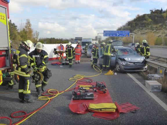 Unfall A60 Gestern
